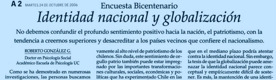 Identidad nacional y globalización
