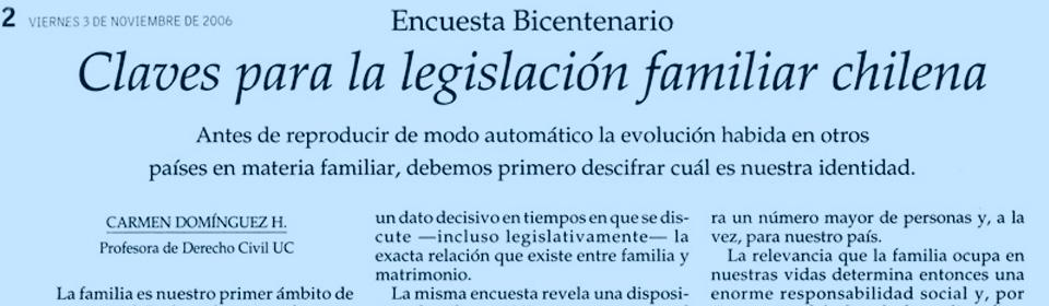 Claves para la legislación familiar chilena
