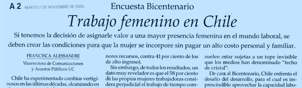 Trabajo femenino en Chile