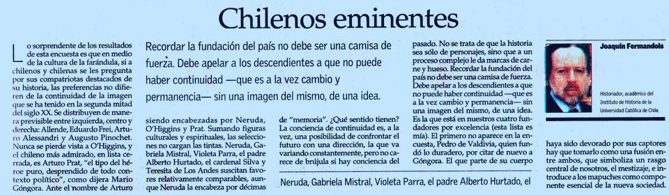 Chilenos eminentes