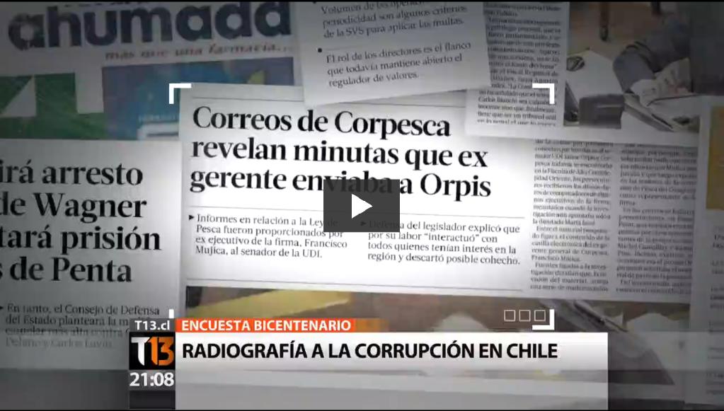 Radiografía a la corrupción en Chile ¿Somos un país corrupto?