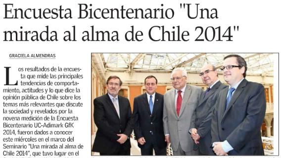 """Encuesta Bicentenario """"Una mirada al alma de Chile"""""""
