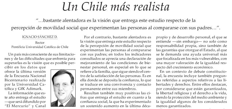 Un Chile más realista