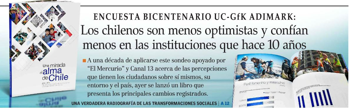 Los chilenos son menos optimistas y confían menos en las instituciones que hace 10 años