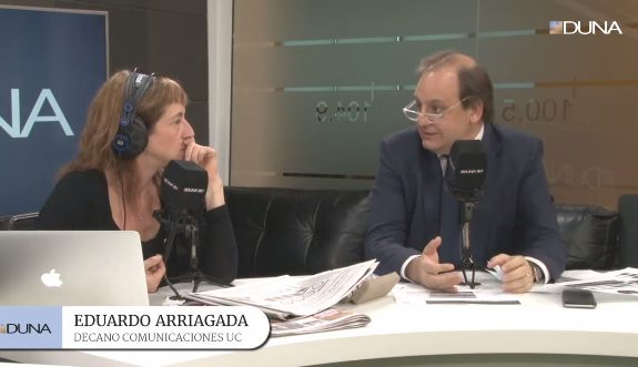 Entrevista a Eduardo Arriagada en relación al capítulo de Redes Sociales