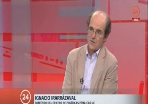 Encuesta Bicentenario: Canal 24 Horas entrevista a Ignacio Irarrázaval