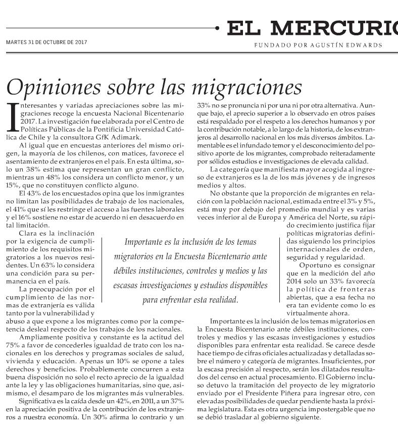 Opiniones sobre las migraciones