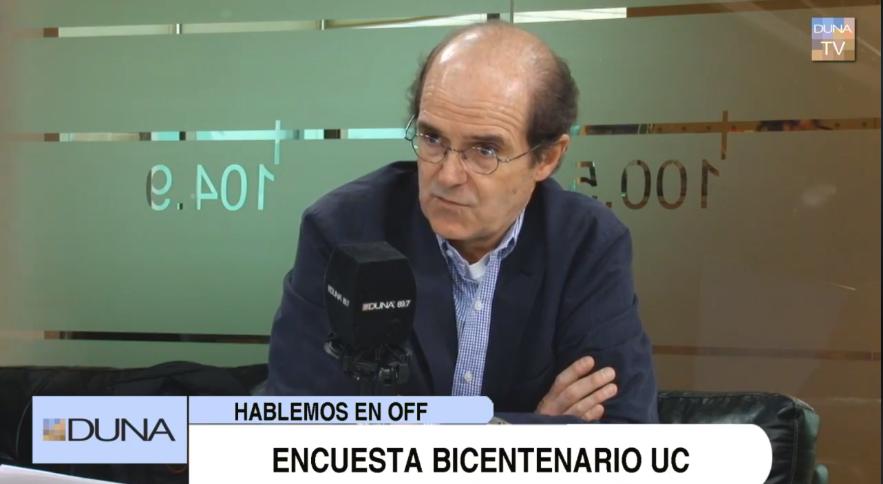 Radio Duna: Ignacio Irarrázaval habla sobre Encuesta Bicentenario 2017