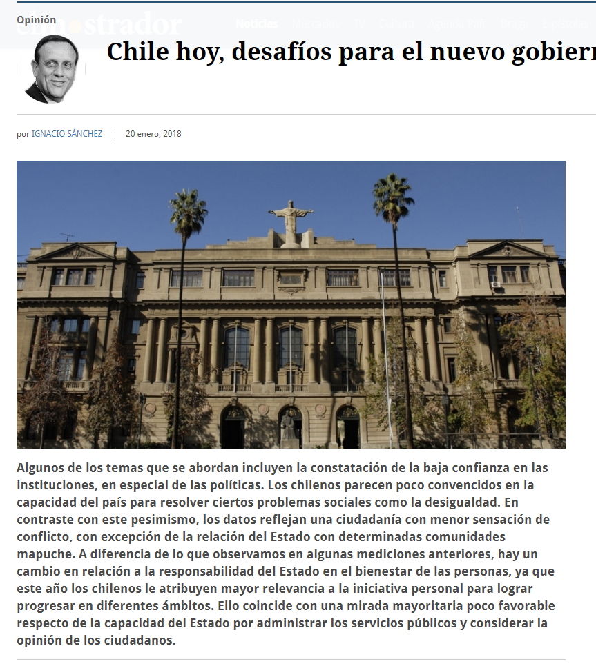Chile de hoy, desafíos del nuevo gobierno
