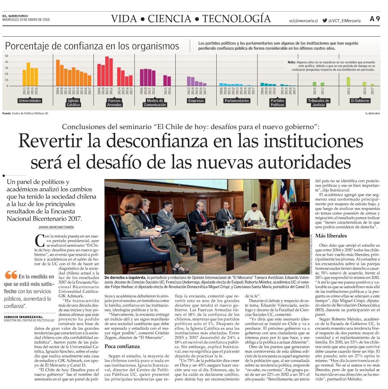 Revertir la desconfianza en las instituciones será el desafío de las nuevas autoridades