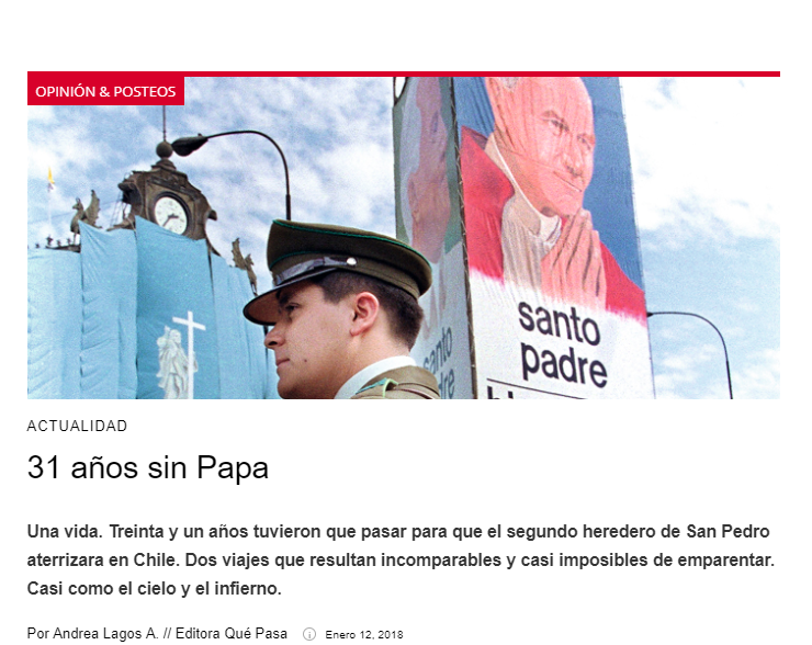 31 años sin el Papa