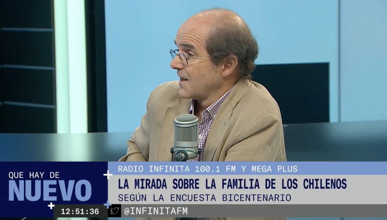 Ignacio Irarrázaval se refiere a datos de la Encuesta Bicentenario UC en entrevista en canal Mega Plus y Radio Infinita
