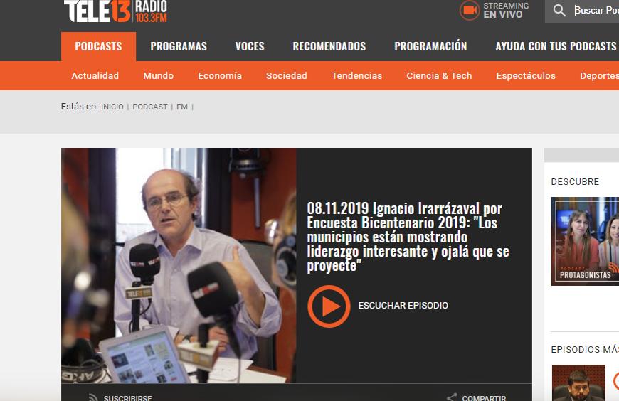 Ignacio Irarrázaval analiza la contingencia social a partir de resultados de Encuesta Bicentenario UC