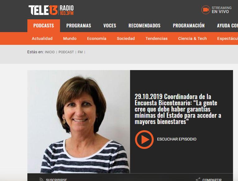 Francisca Alessandri se refiere a resultados de Encuesta Bicentenario UC