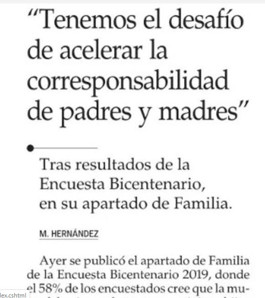 Ministra Isabel Plá comenta resultados de Encuesta Bicentenario UC