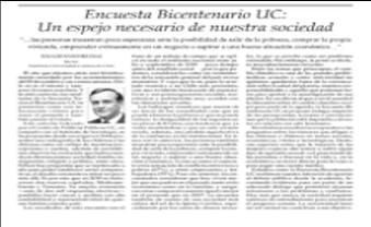 El Mercurio publica columna del Rector Ignacio Sánchez sobre resultados de Encuesta Bicentenario UC