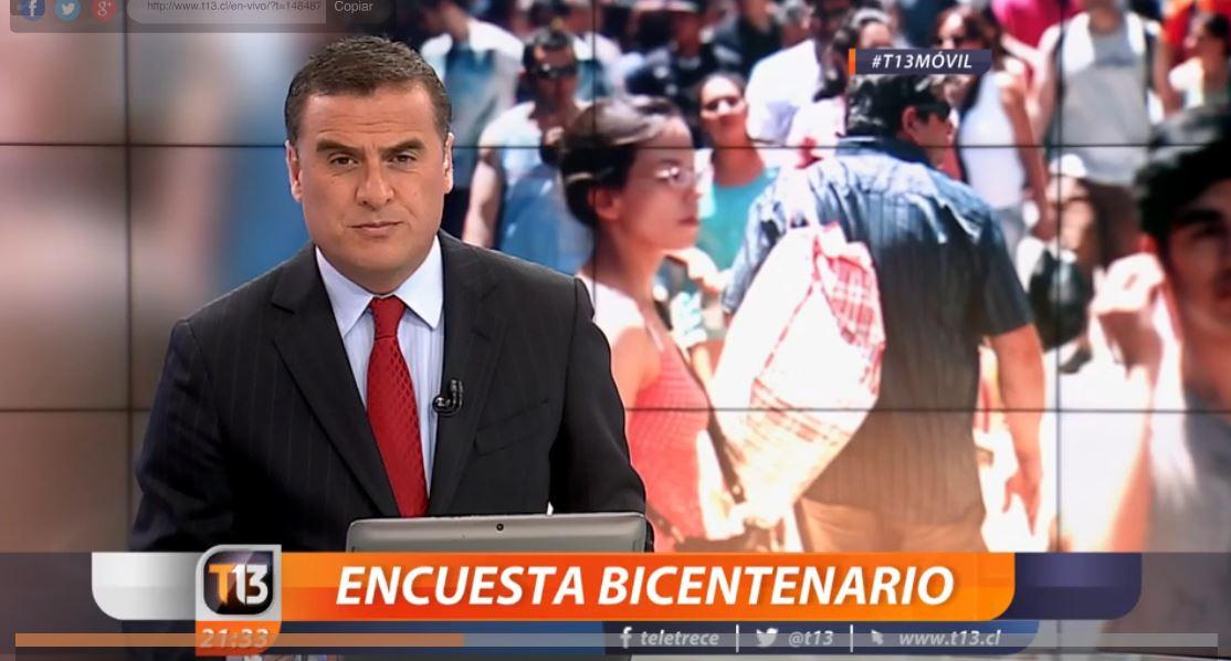 Encuesta Bicentenario revela aspectos de la sociedad chilena