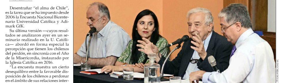 Inclusión social y visión humanitaria son claves para poder perdonar en Chile